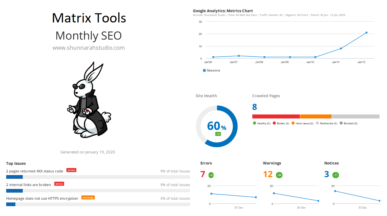 Monthly SEO Dashboards and Reports